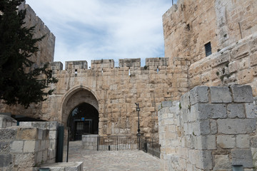 Entrance to the Tower of David in Jerusalem