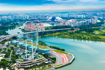Aerial view of Singapore in Asia
