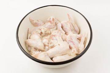 chicken wings in marinade