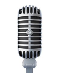 Retro silver microphone