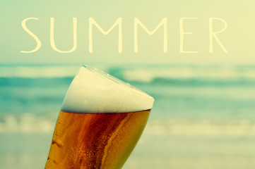 summer on the beach with a refreshing beer