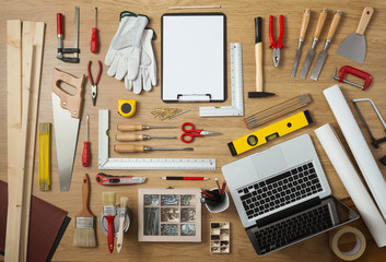 DIY project with work tools