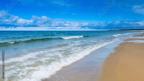 Beach landscape. Baltic coast.