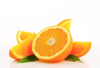 Cut orange fruit