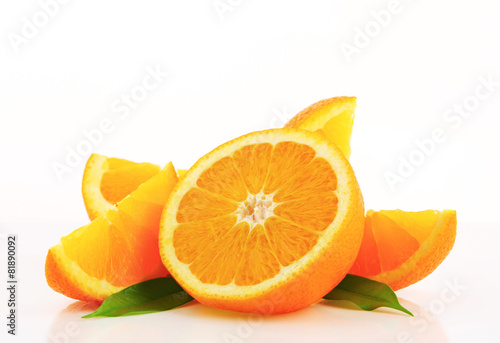 Fotobehang Vruchten Cut orange fruit