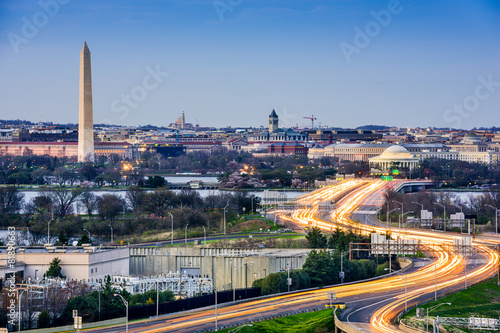 Staande foto Verenigde Staten Washington, DC Cityscape with Monuments