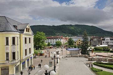 Andrej Hlinka square in Zilina. Slovakia