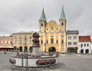 St Paul Church. Marianske square in Zilina. Slovakia