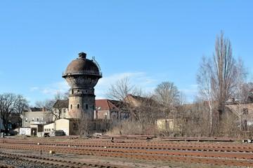 Wasserturm am Bahnhof von Aschersleben