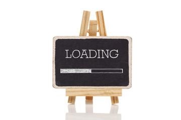 Design of progress bar on blackboard, loading..