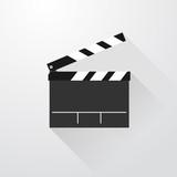 Fototapeta simple movie flap with long shadows