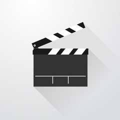 simple movie flap with long shadows