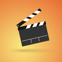 film flap on an orange background