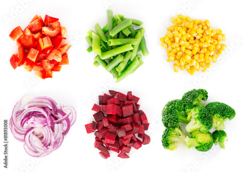 Deurstickers Assortiment Vegetables set 4