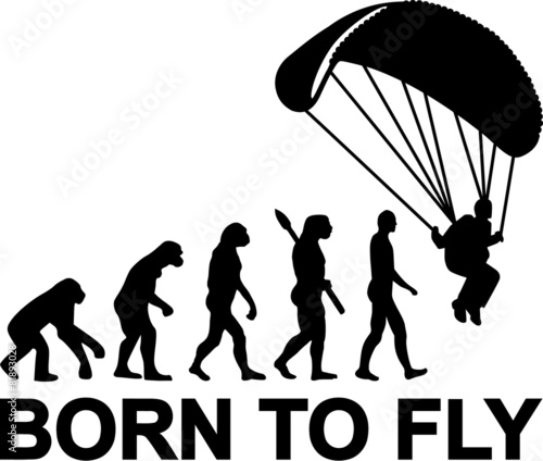 Fototapeta Skydiving Evolution Born to fly