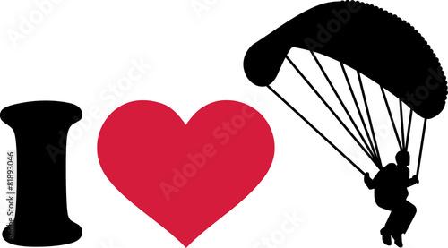 Fototapeta I love skydiver