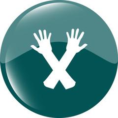 web button hand icon on white