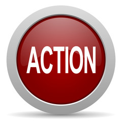 action red glossy web icon
