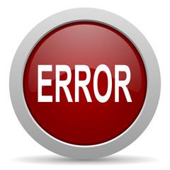 error red glossy web icon