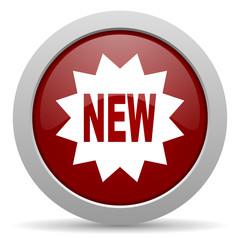 new red glossy web icon