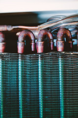 Condenser unit detail air conditioner heat exchanger
