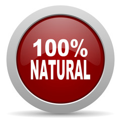 natural red glossy web icon