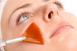 facial peeling mask applying - 81894869
