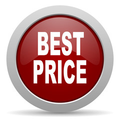 best price red glossy web icon