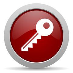 key red glossy web icon