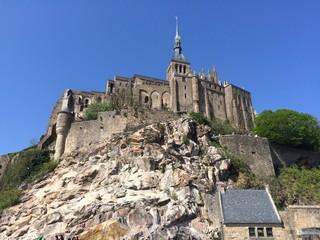 View over Mont Saint Michel Abbey, France