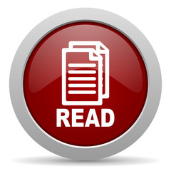 read red glossy web icon