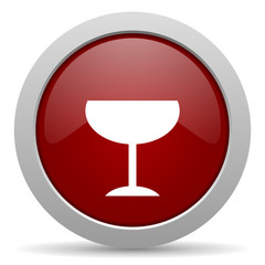 alcohol  red glossy web icon