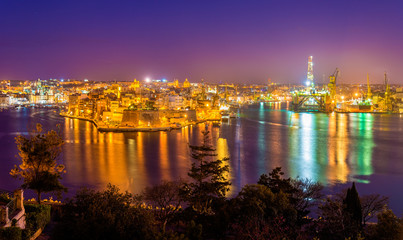 Fort St. Angelo and Dockyard Creek in Malta
