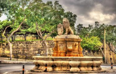 Fountain in Floriana town - Malta