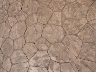 地面のタイルパターン