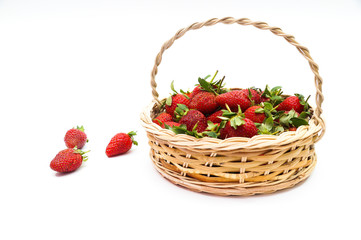 Bunch of Strawberries on Basket