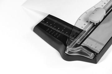 cutter closeup Black and white