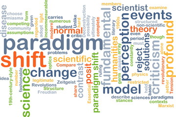 Paradigm shift wordcloud concept illustration