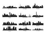 Fototapety US City Skyline Silhouette