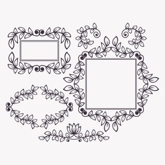 Set of frames and borders.