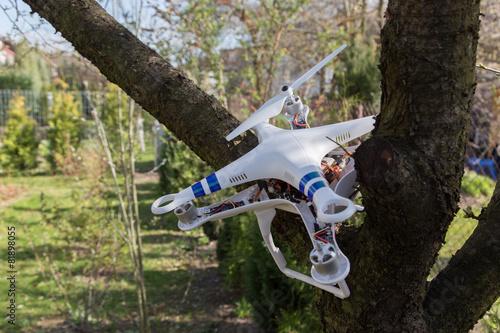 Damaged drone