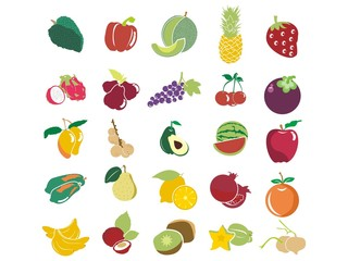 Fruit in Simple Illustration