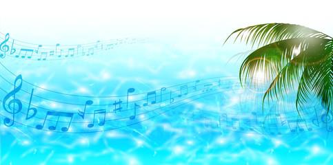 海 ヤシ 音符