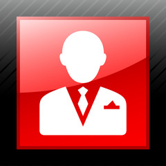 White Businessman icon