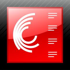 White Radial Graph icon