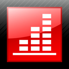 White Bar Graph icon