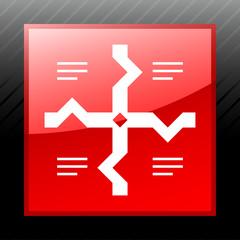 White Flowchart icon