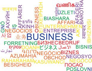 Business multilanguage wordcloud background concept