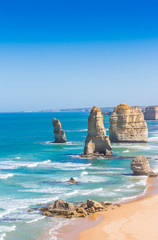 The twelve apostles on the great ocean road in Victoria Australi