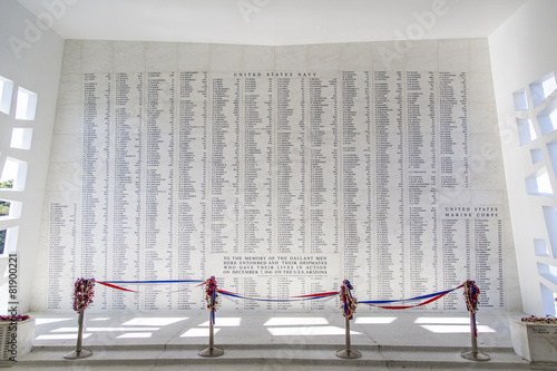 USS Arizona Memorial Wall - 81900221